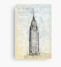 Crysler Building, New York USA Canvas Print