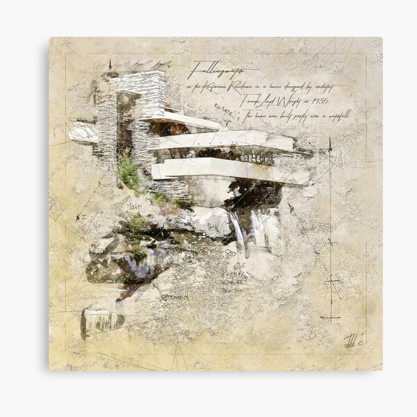 Fallingwater, USA Canvas Print
