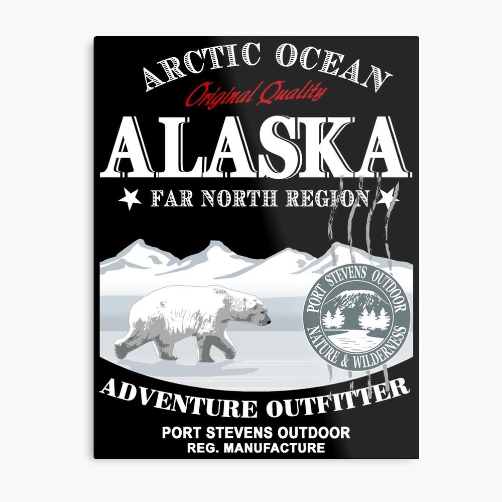 Alaska - Polar Bear - Eisbär Metallbild