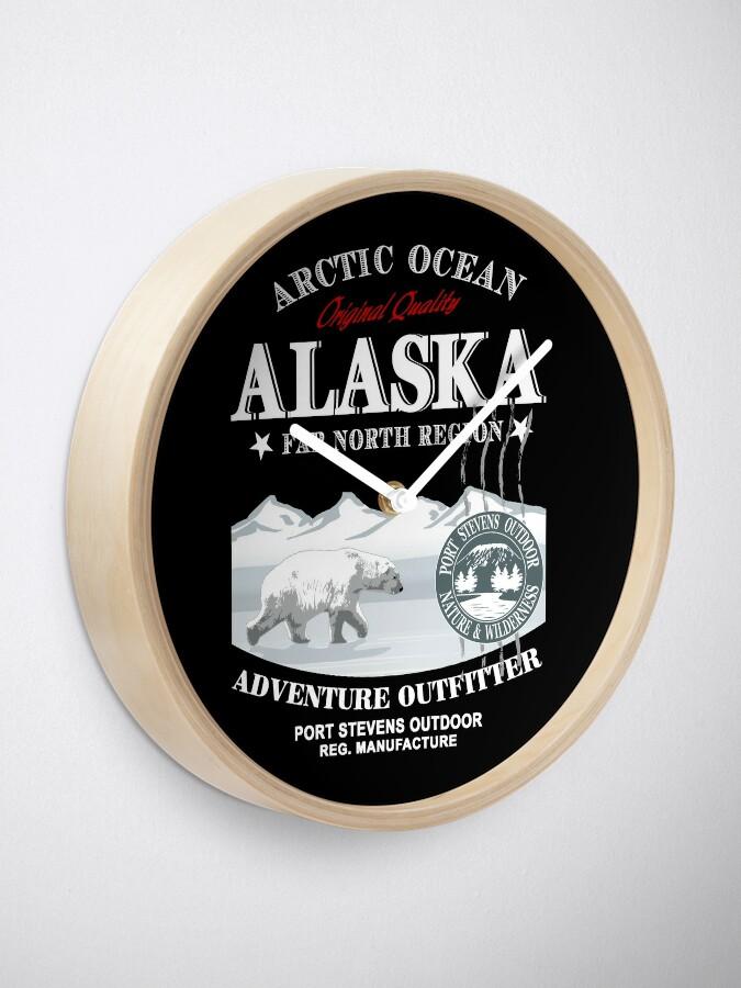 Alternative Ansicht von Alaska - Polar Bear - Eisbär Uhr