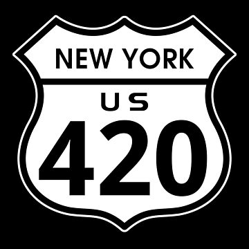 New York 420 Day US Highway Sign by sumwoman