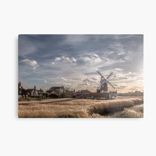 Cley next the Sea Norfolk UK  - A Bright Winters Day Metal Print