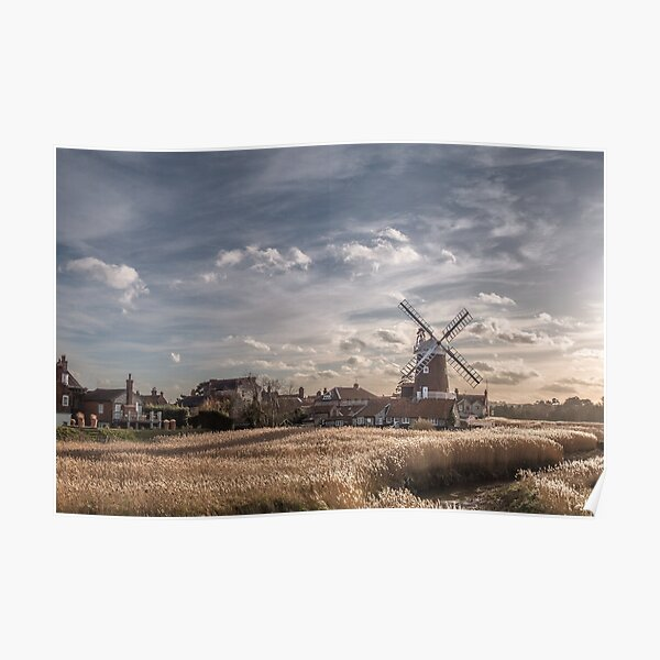 Cley next the Sea Norfolk UK  - A Bright Winters Day Poster