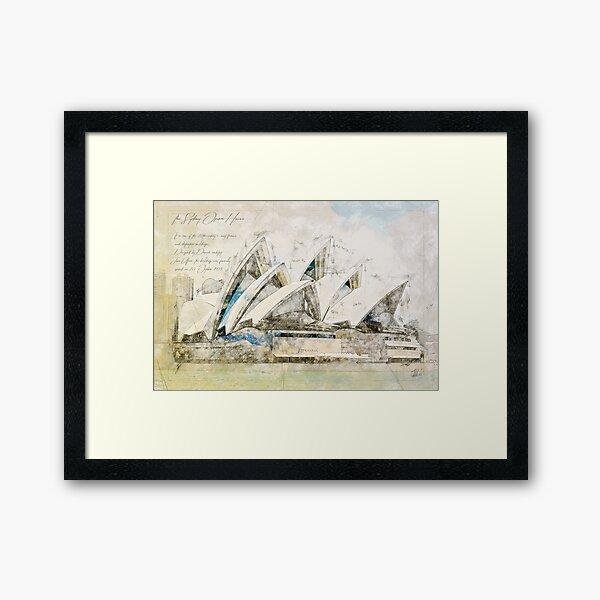 Sydney Opera, Sydney Australia Framed Art Print