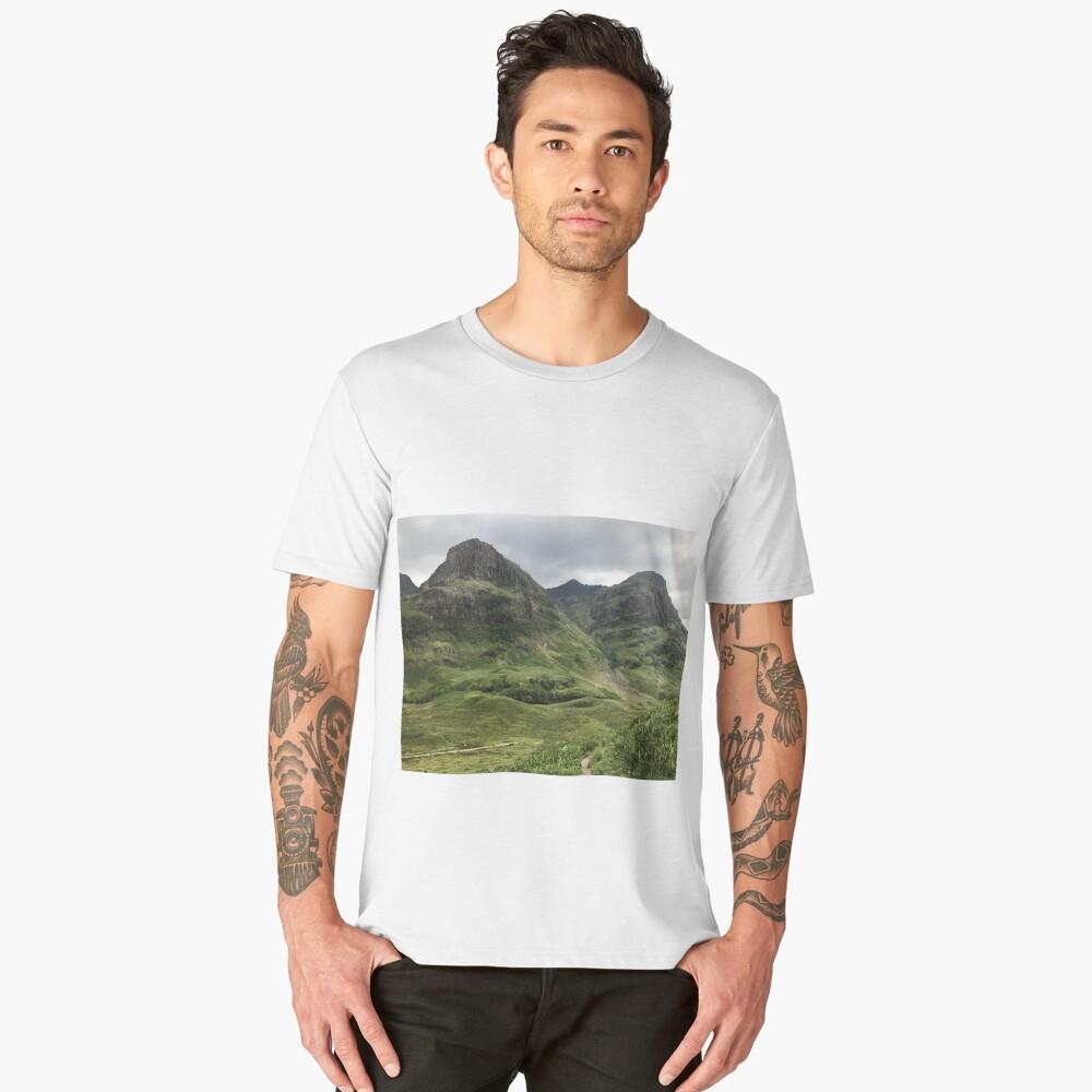 Glencoe, the Highlands , Scotland Men's Premium T-Shirt Front