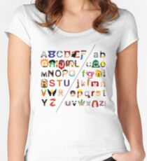 Marvelphabet Women's Fitted Scoop T-Shirt