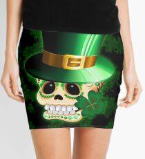 St Patrick Lucky Irish Skull Cartoon  Mini Skirt