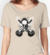 Skull and Guitars Women's Relaxed Fit T-Shirt