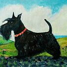 Angus the Scottish Terrier Dog by Hannah Dosanjh