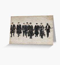 Peaky Blinders watercolour Greeting Card