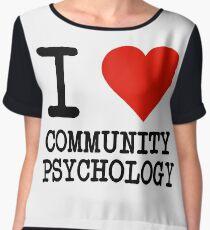 I Love Community Psychology Chiffon Top