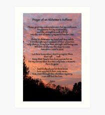 Prayer of an Alzheimer's Sufferer Art Print