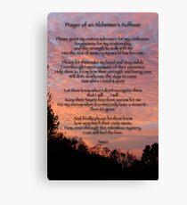 Prayer of an Alzheimer's Sufferer Canvas Print