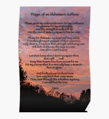 Prayer of an Alzheimer's Sufferer Poster