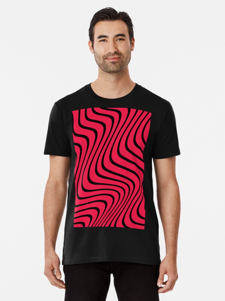 bfe30f2d Psychedelic Red & Black PewDiePie Wave Pattern