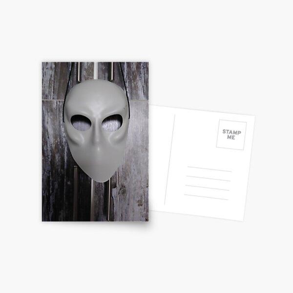 Mask, New York, Manhattan, Brooklyn, New York City, architecture, street, building, tree, car, pedestrians, day, night, nightlight, house, condominium,  Postcard
