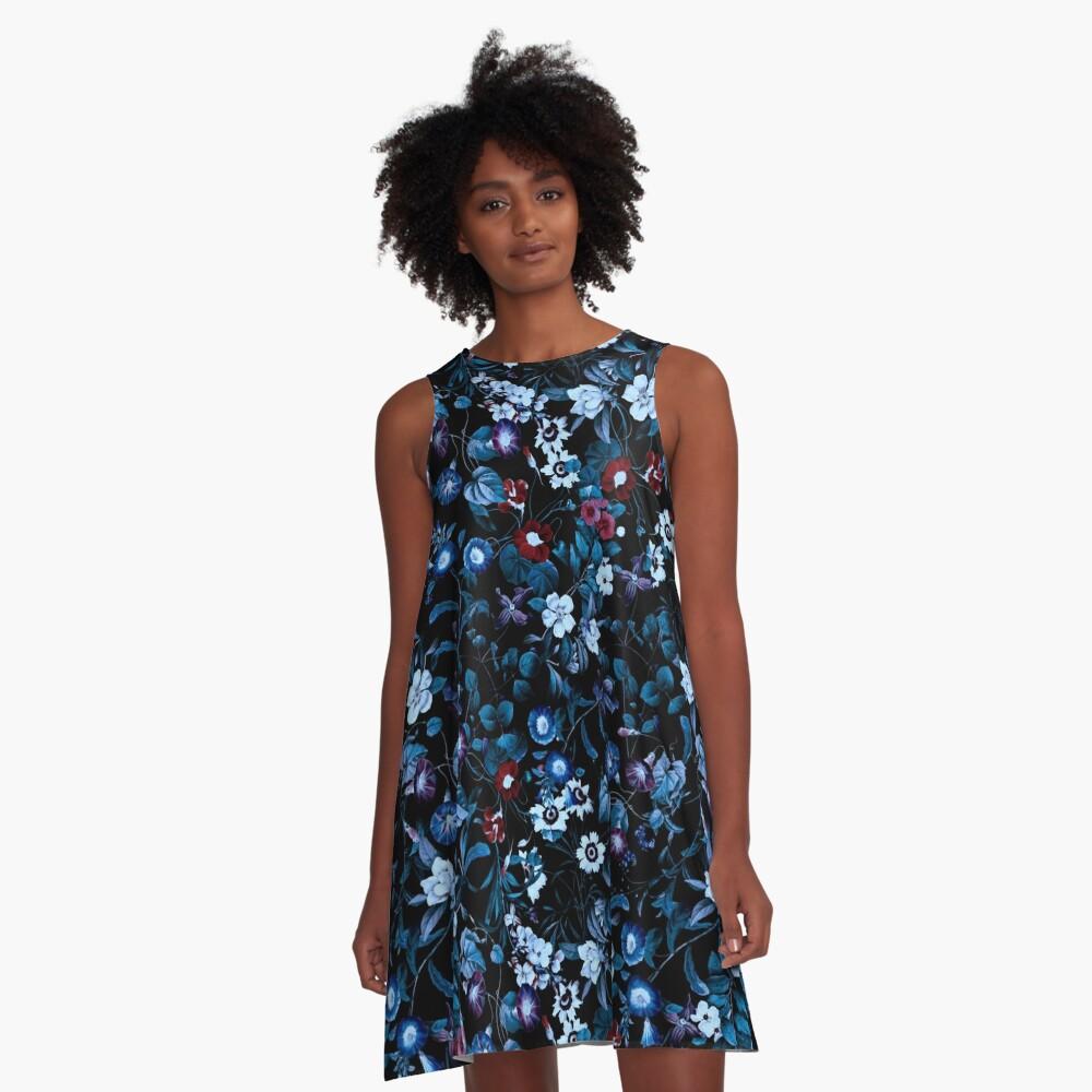 Night Garden XXXII A-Line Dress