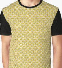 SCALES2 WHITE MARBLE & YELLOW DENIM Graphic T-Shirt