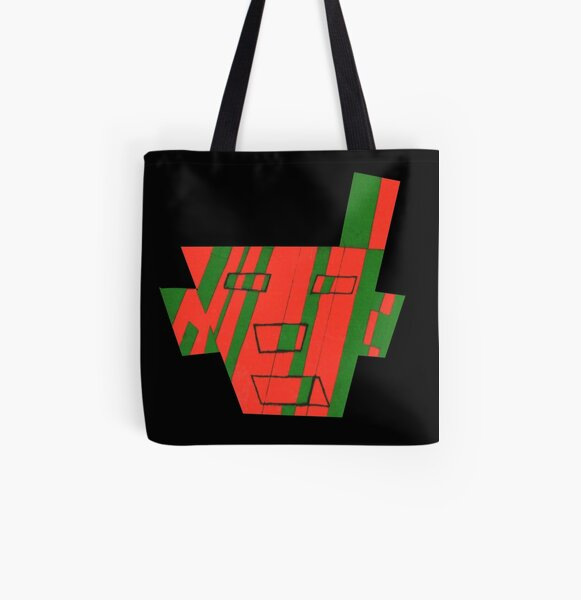 Faced The First (Facemadics colorful contemporary abstract face) All Over Print Tote Bag