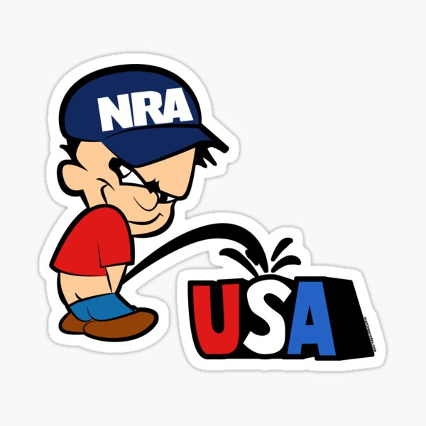 The NRA pisses on America Sticker