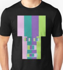 Rainrow Fro (Facemadics abstract face colorful contemporary) Slim Fit T-Shirt