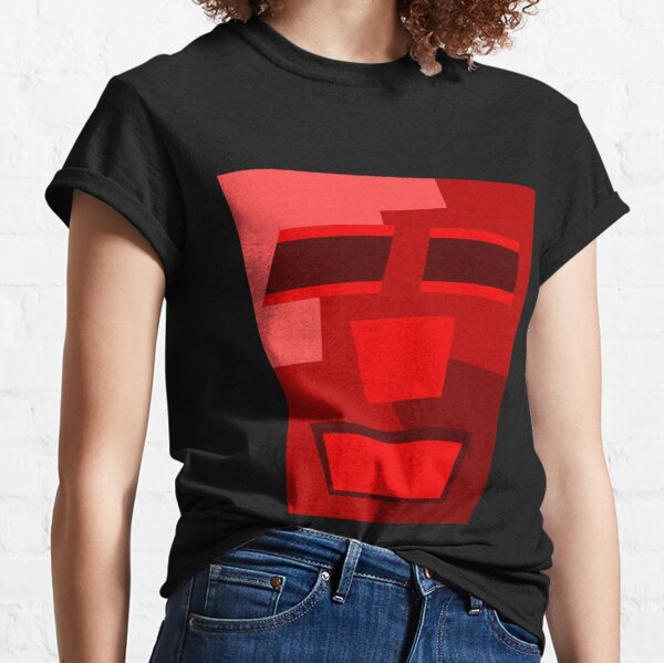 Red Wine (Facemadics colorful contemporary abstract face) Classic T-Shirt
