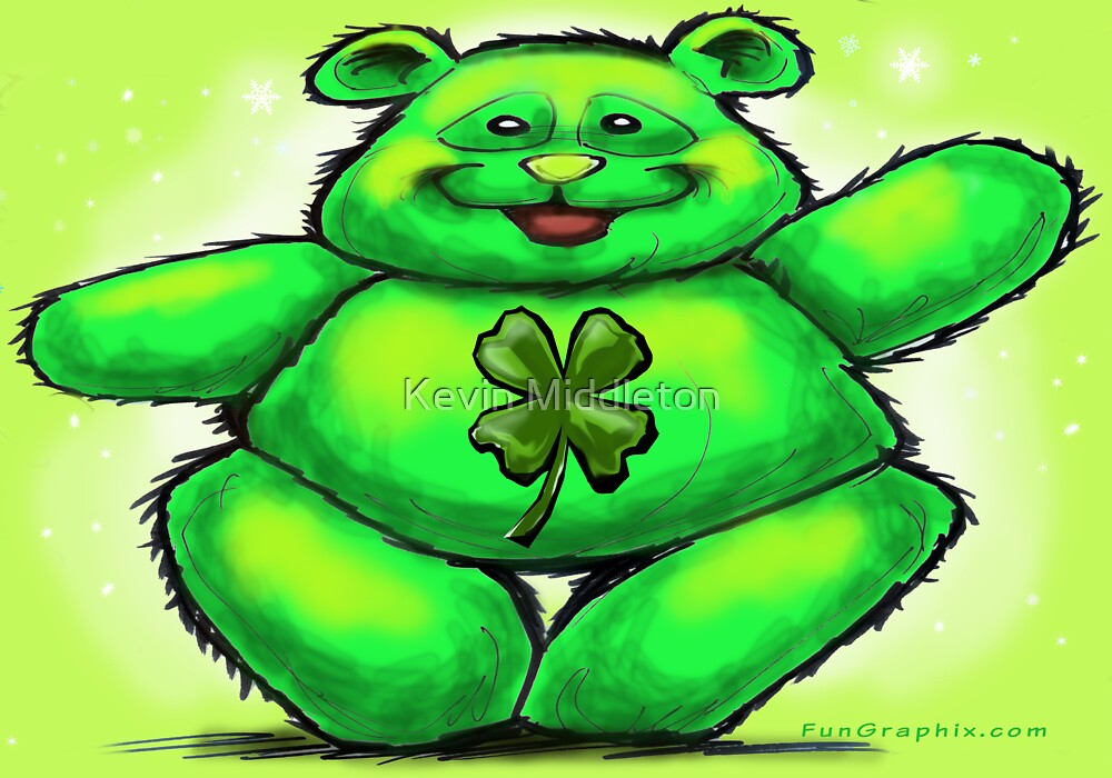 St Patty Bear by Kevin Middleton