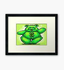 St Patty Bear Framed Print