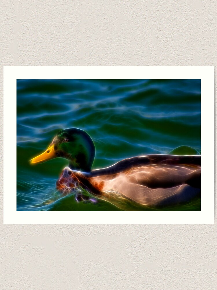 Alternate view of Fancy Duck Art Print