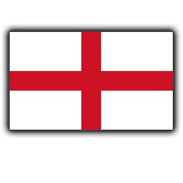 ENGLAND, England Flag, English Flag, Flag of St George, Pure & simple by TOMSREDBUBBLE