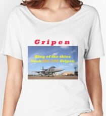 Saab JAS 39 Gripen King of the Skies slogan Women's Relaxed Fit T-Shirt