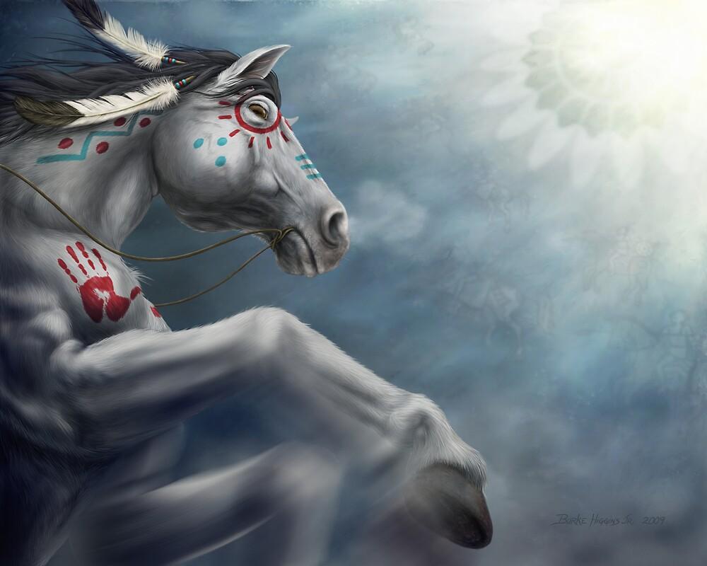 """Napayshni"" War Pony by Burke Higgins, Jr."