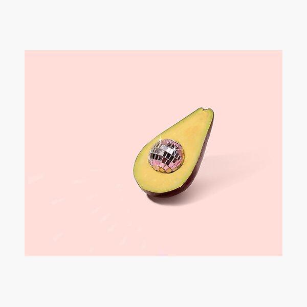 Pastel Avocado Disco ball Photographic Print