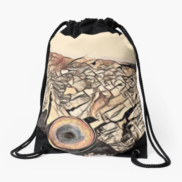 SERIFOS EYE Drawstring Bag