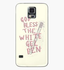 The White Gel Pen Case/Skin for Samsung Galaxy