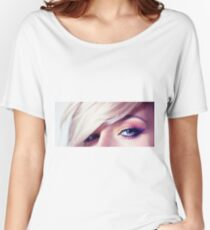 Close up eye with beautiful colors Women's Relaxed Fit T-Shirt
