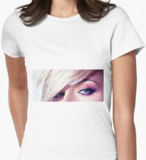 Close up eye with beautiful colors Women's Fitted T-Shirt