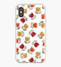messy red tulips iPhone Case