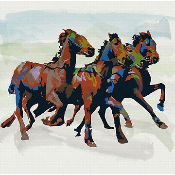 Horses by dalgius
