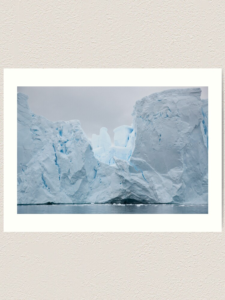 Alternate view of Sculpted iceberg Art Print