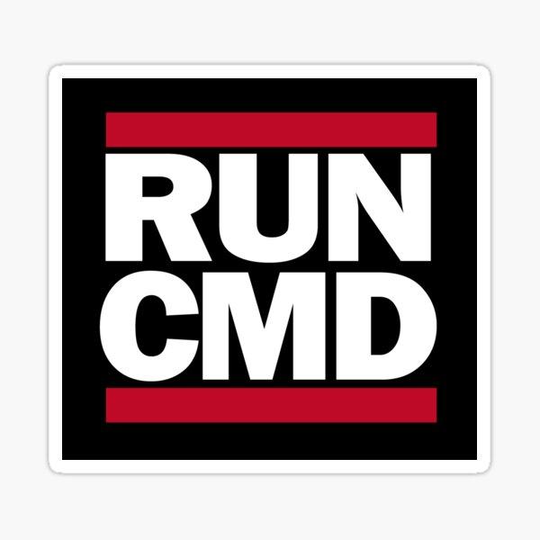 RUN CMD Sticker