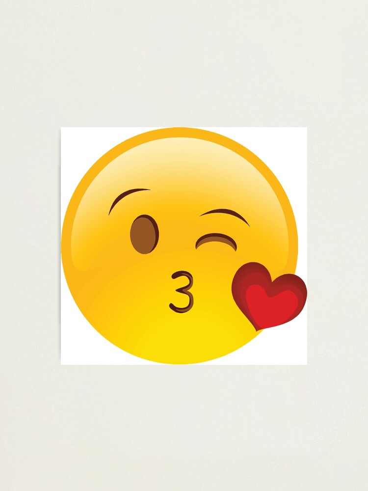SMILEY KISS Photographic Print by janibravo | Redbubble
