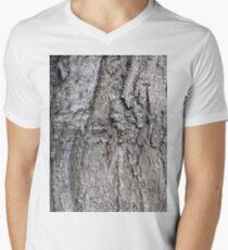 Bark of tree, New York, Manhattan, Brooklyn, New York City, architecture, street, building, tree, car, pedestrians, day, night, nightlight, house, condominium,  Men's V-Neck T-Shirt