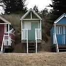beach huts wells next the sea norfolk  by Tony Day