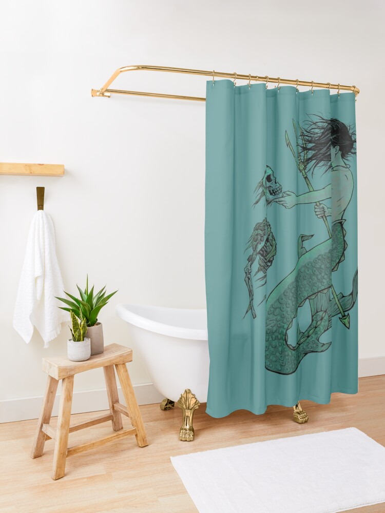 Alternate view of From the Bottom Shower Curtain