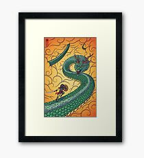 Dragons Fight Framed Print