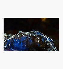 Abstract close-up view of ice in the river, winter in mountains, Germany Photographic Print