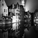shot on film .. belfry night reflection by badduck09