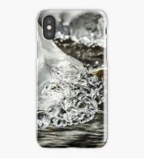 Abstract close-up view of ice in the river, winter in mountains, Germany iPhone Case