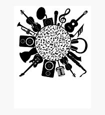 Music Notes  Instrument Collage Photographic Print